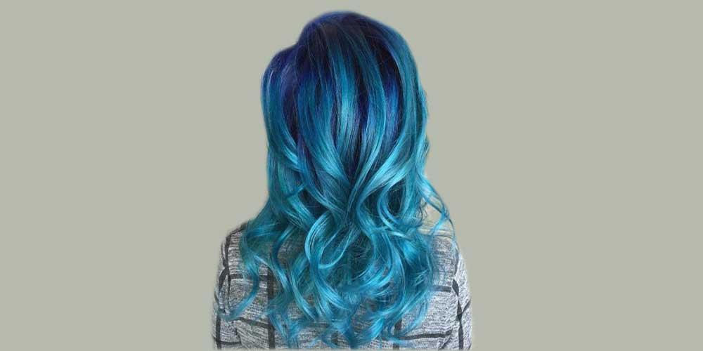 موهای آبی لاجوردی