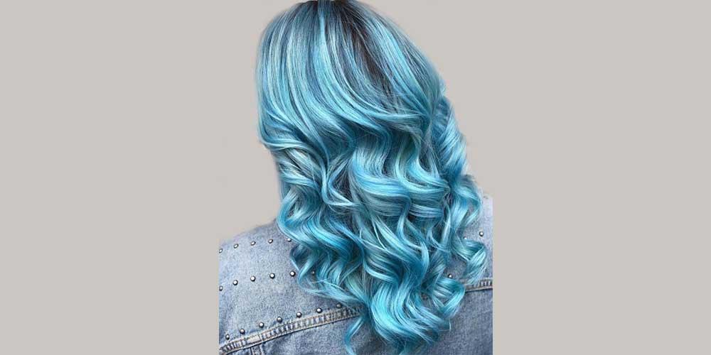 رنگ مو لاجوردی روشن