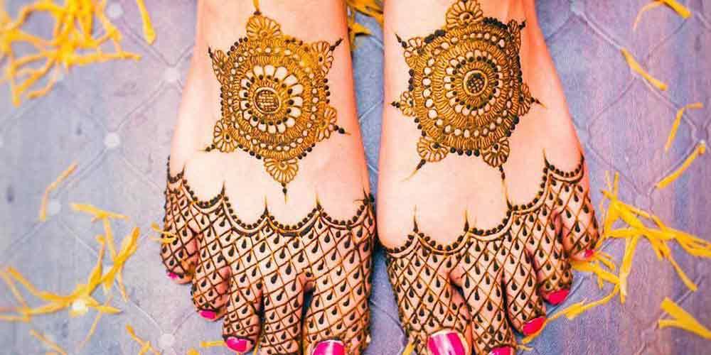 طراحی با حنا برای عروسی