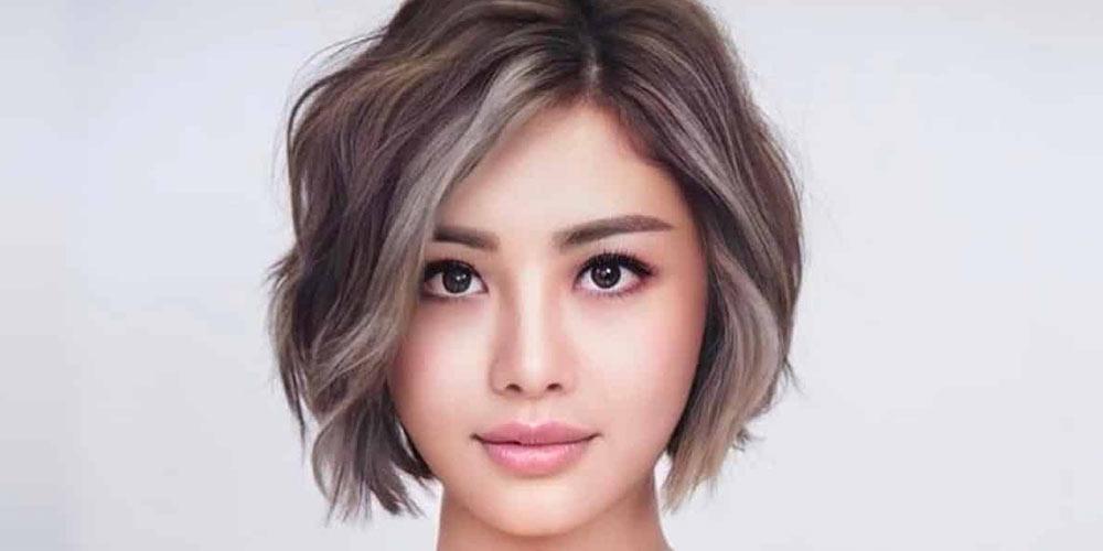 موی لایه ای کوتاه برای صورت گرد