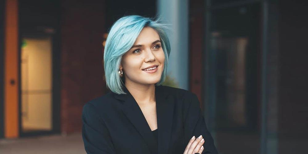 موی کوتاه آبی فیروزهای