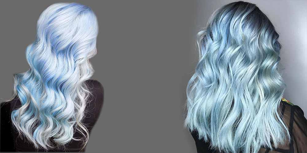رنگ آبی یخی روشن