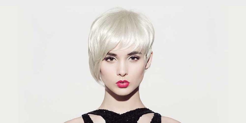 موی کوتاه نامتقارن برای موی بلوند