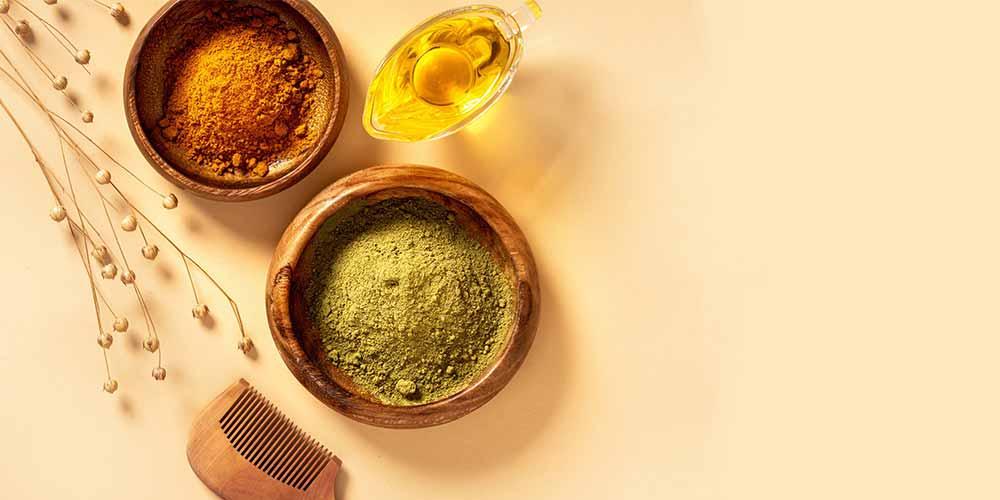 مواد لازم در تهیه حنا برای مو