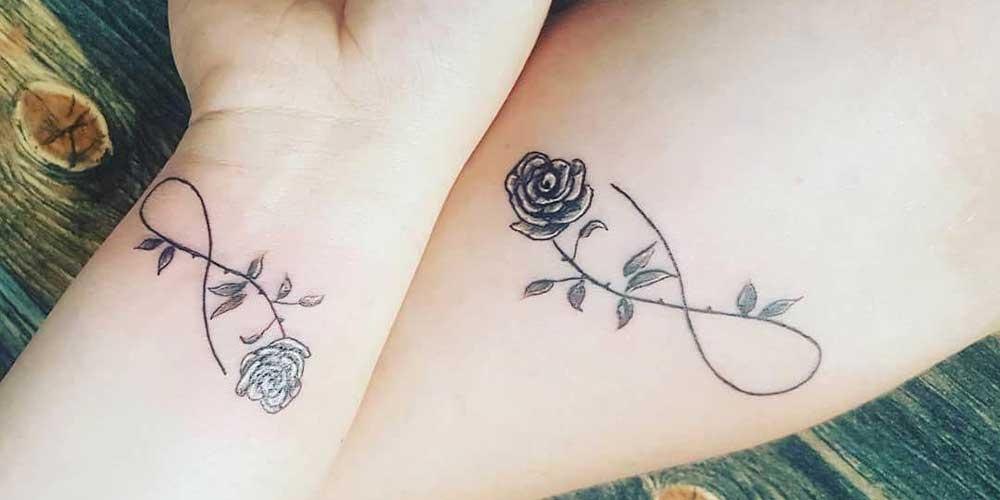 ایده تاتو بینهایت با گل