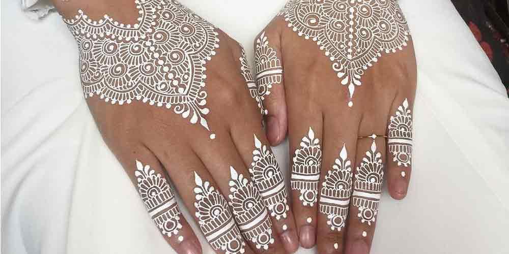 ایده طراحی حنا روی دست عروس
