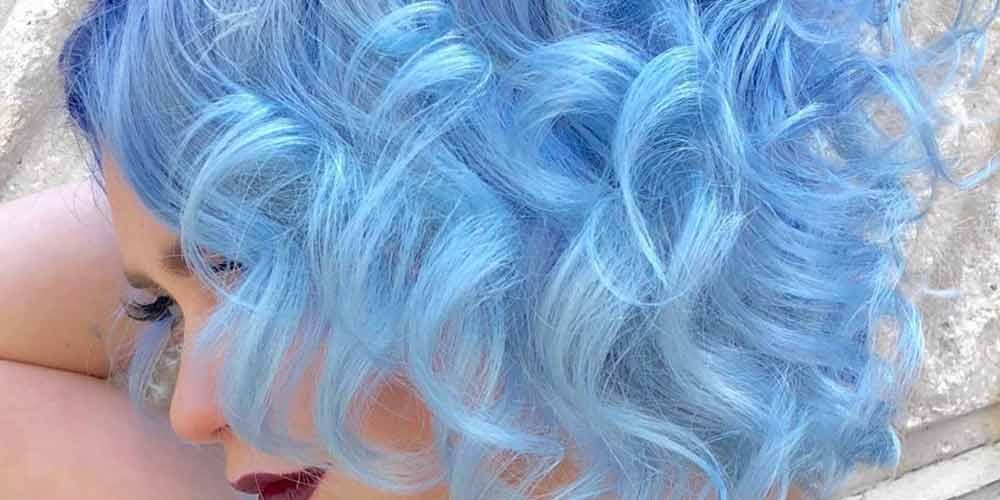 رنگ مو آبی پاستیلی