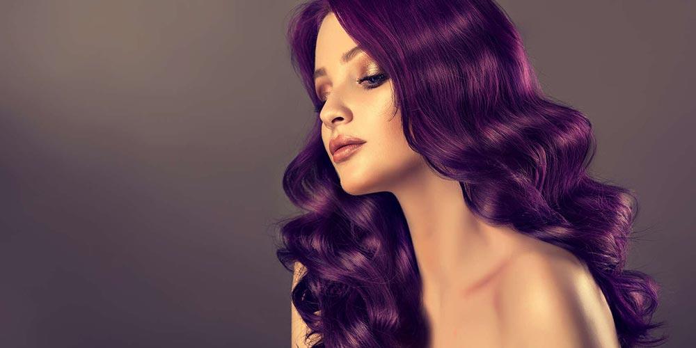 ترکیب رنگ مو فانتزی بنفش