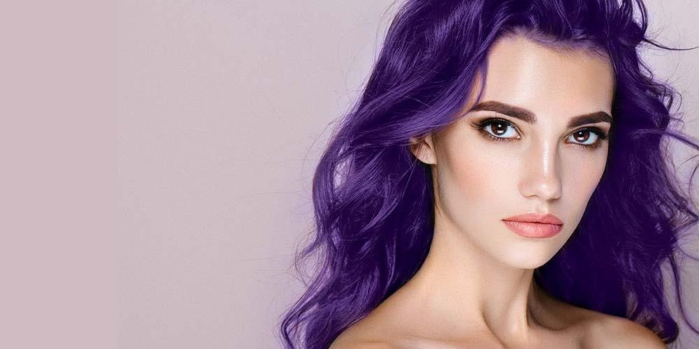 ترکیب رنگ مو بنفش فانتزی