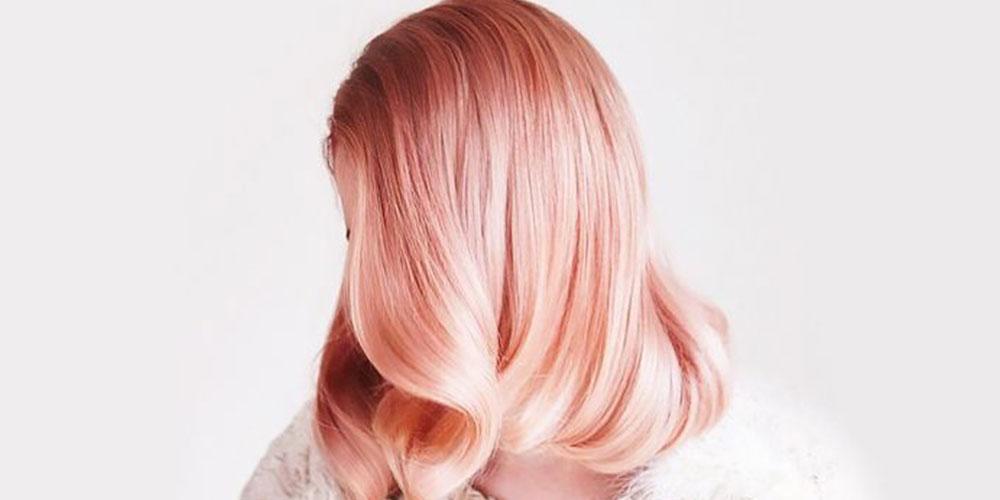 رنگ مو فانتزی هلویی