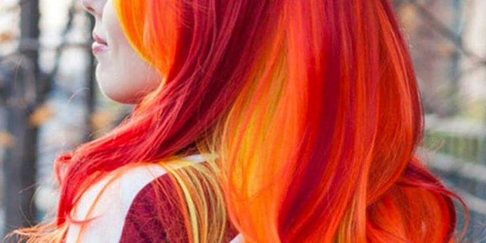 ترکیب رنگ مو فانتزی قرمز نارنجی