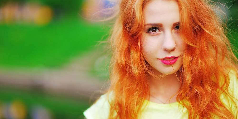 ترکیب رنگ مو فانتزی نارنجی