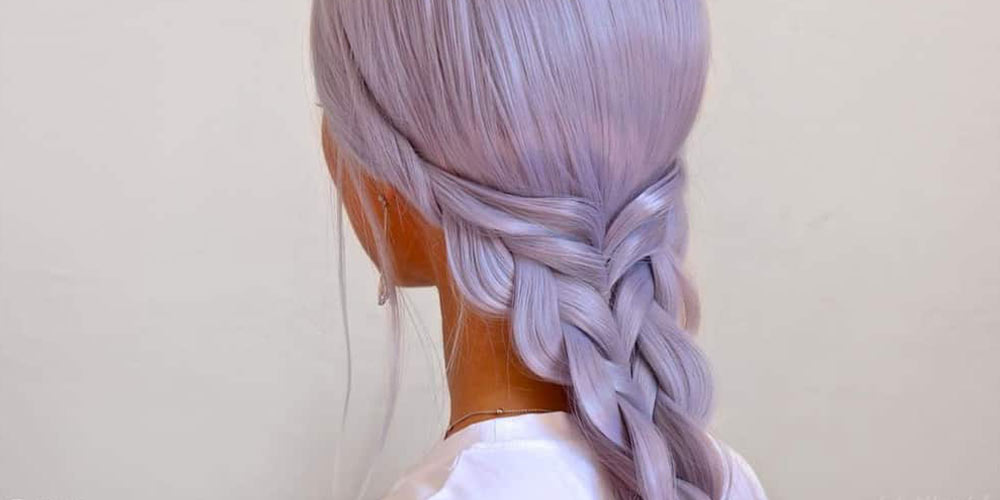 ترکیب رنگ مو فانتزی یاسی