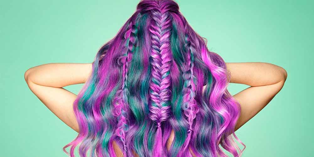 ترکیب رنگ مو فانتزی بدون دکلره با عکس