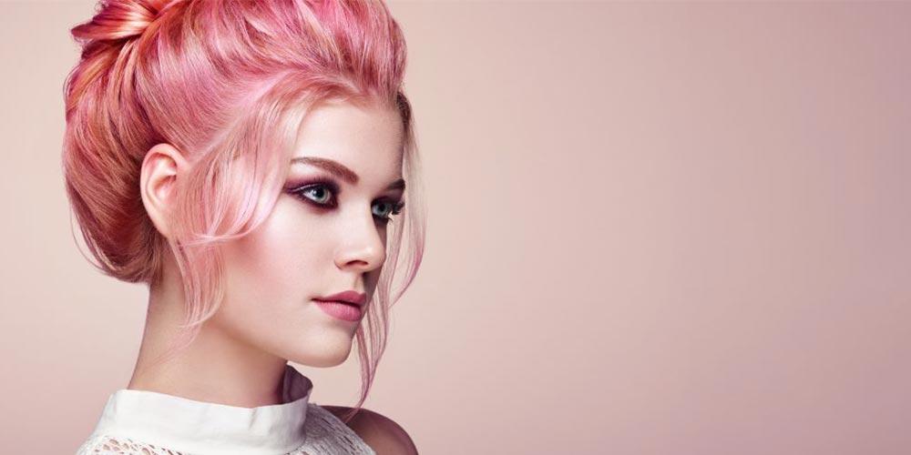 ترکیب رنگ مو فانتزی صورتی