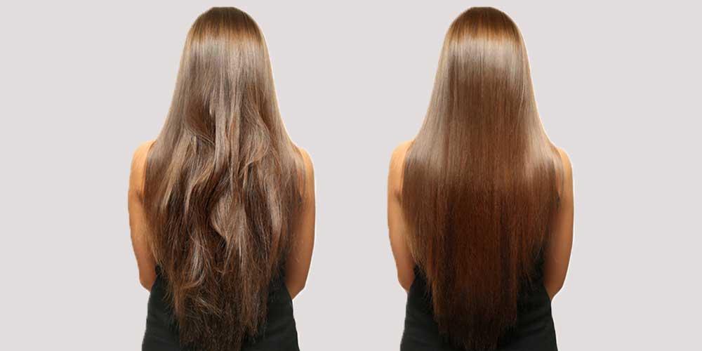 قبل و بعد تقویت مو