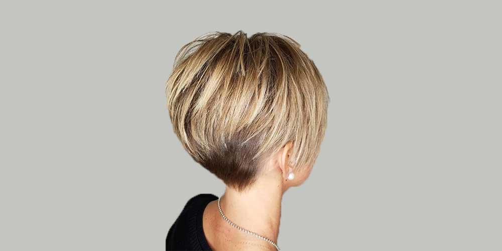 هایلایت موی کوتاه بلوند
