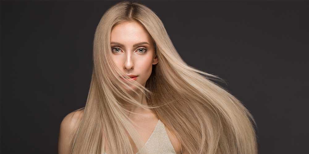 موهای صاف بلوند