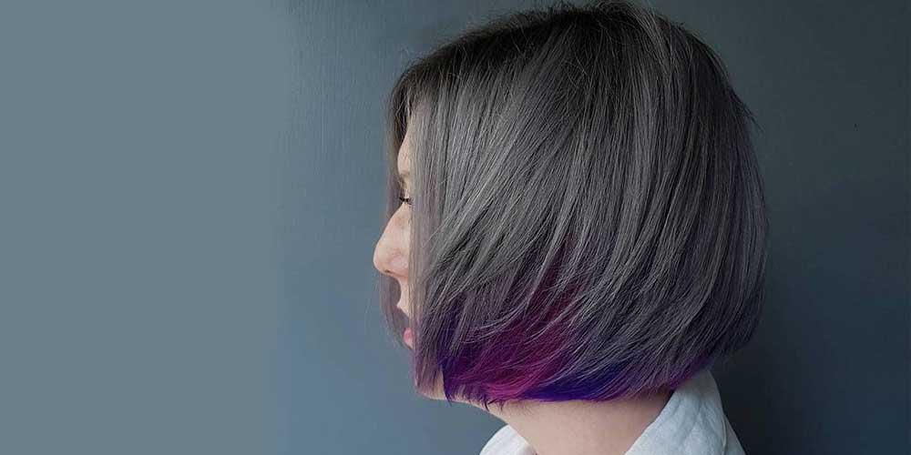 هایلایت موی کوتاه با فویل