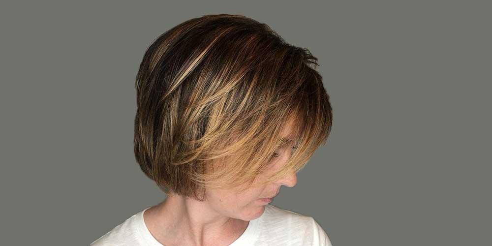 هایلایت روشن موی کوتاه قهوهای