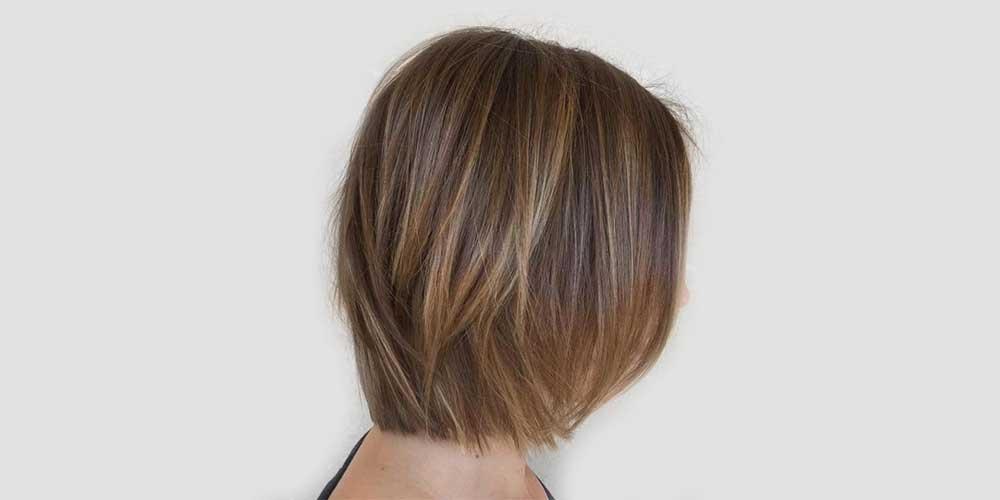 هایلایت موی کوتاه قهوهای