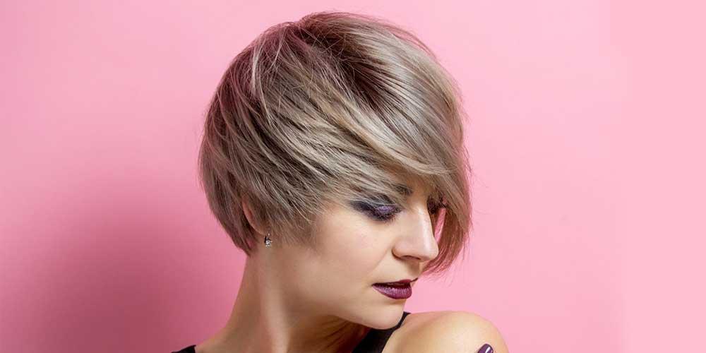 رنگ مو هایلایت روشن روی موی کوتاه