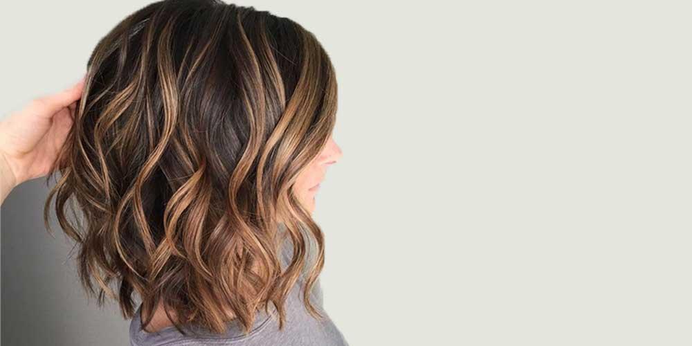 هایلایت موی کوتاه زنانه قهوهای