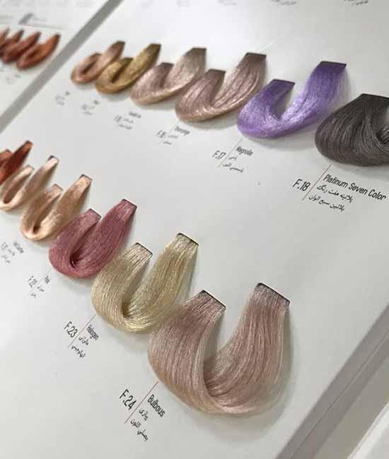 آموزش خواندن کاتالوگ رنگ مو