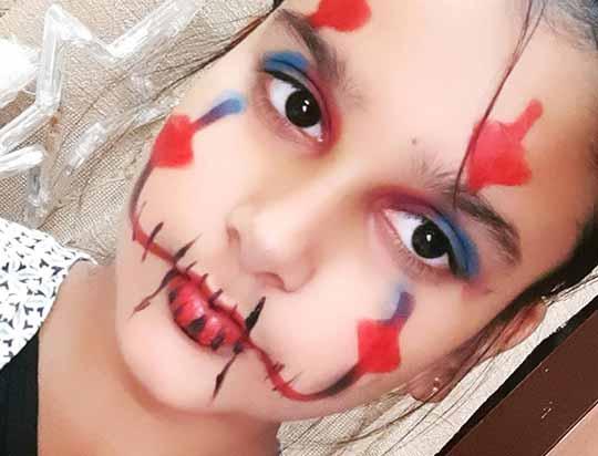 نمونه گریم صورت کودک
