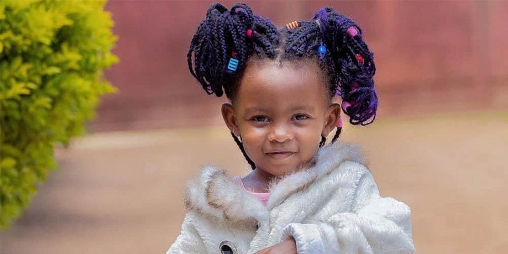 بافت موی کودکانه دخترانه