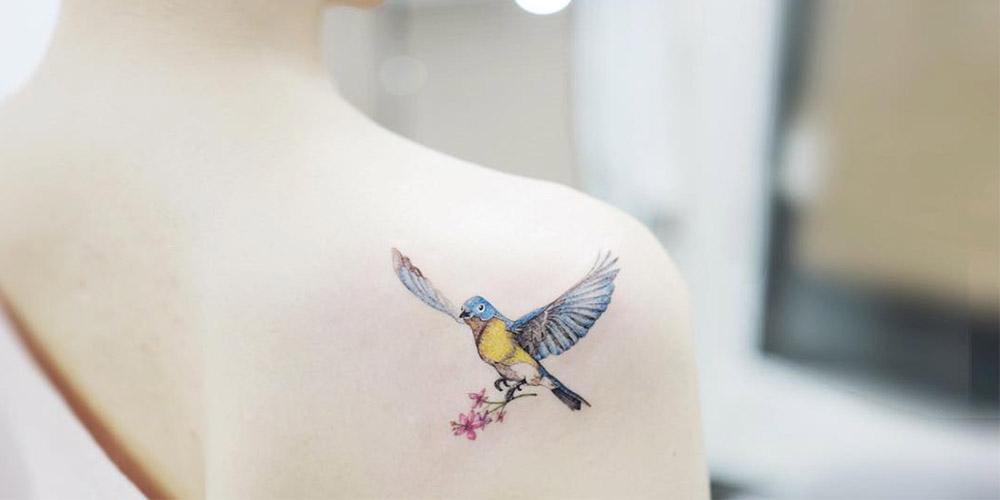 طرح تتو پرنده کوچک