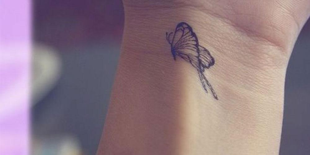 طرح تاتو پروانه ظریف