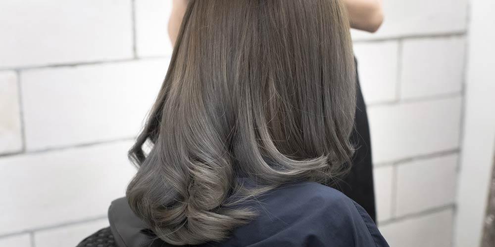 ترکیب رنگ موی دودی متوسط