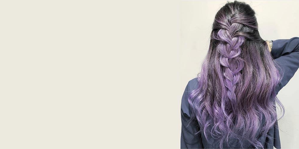 ترکیب رنگ مو دودی یاسی