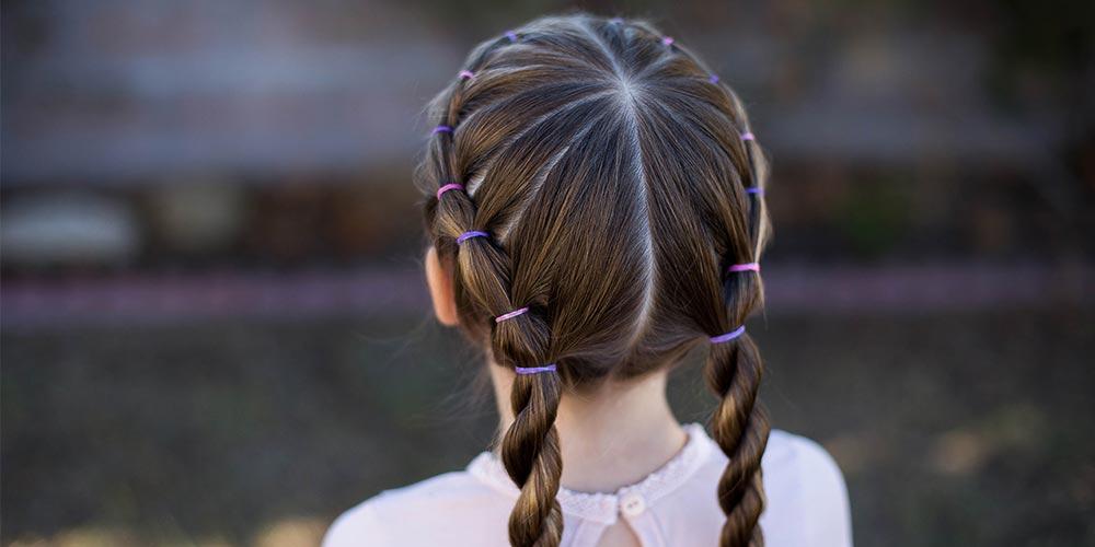 بافت موی بچه گانه ساده
