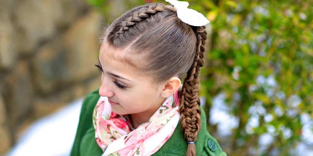 بافت موی بچه گانه دخترانه