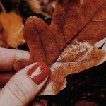 طرح ناخن پاییزی