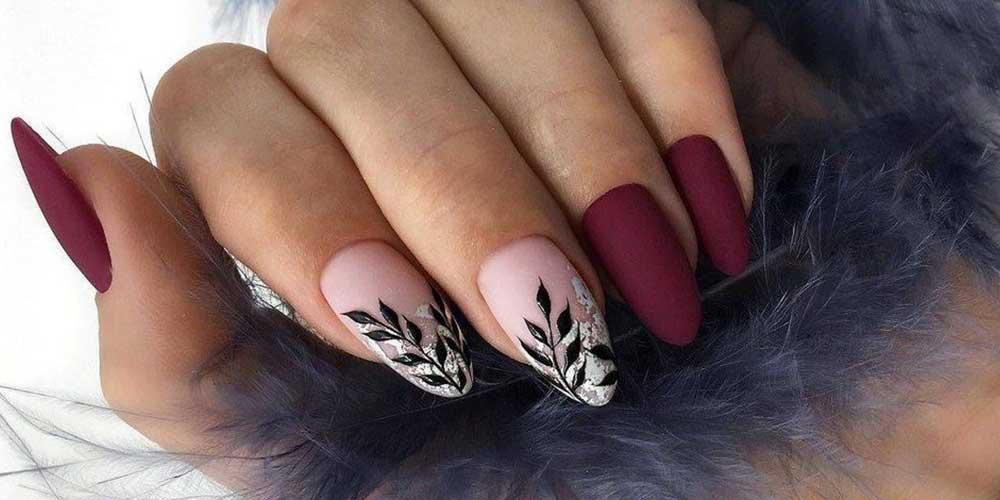مدل ناخن پاییزی مات